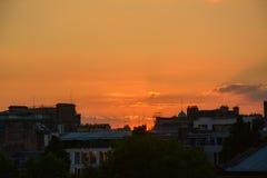 Sunset, Edinburgh Royalty Free Stock Images