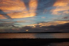 Sunset at Edisto Bay Royalty Free Stock Photo