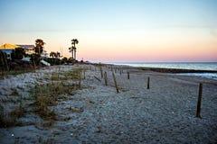 Sunset at edisto beach north carolina. Sunset at edisto beach north  carolina Royalty Free Stock Image