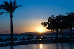 sunset egiptu Fotografia Royalty Free
