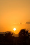 Sunset in Egypt Stock Photo