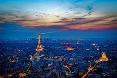 Sunset Eiffel Tower Royalty Free Stock Photos