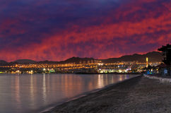 Sunset in Eilat, Israel Royalty Free Stock Image