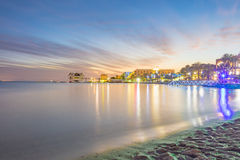 Sunset in Eilat, Israel Red Sea resort city Royalty Free Stock Image