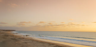 Sunset at El Cotillo Beach Stock Photos