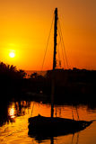 Sunset. El Gouna. Egypt Stock Photos