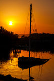 Sunset. El Gouna. Egypt Royalty Free Stock Image