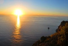 Sunset - El hierro Royalty Free Stock Photo