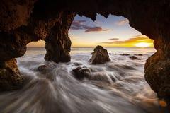 Sunset on El Marador Beach royalty free stock image