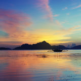 Sunset in El Nido, Palawan - Philippines Royalty Free Stock Photos