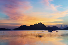 Sunset in El Nido, Palawan - Philippines Stock Photo