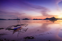 Sunset in El Nido, Palawan - Philippines Stock Photography