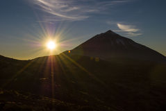 Sunset El Teide Stock Photography