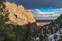 Sunset In Eldorado Canyon State Park stock image
