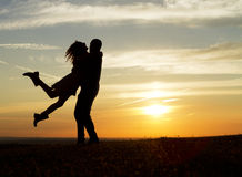 Sunset Embrace Royalty Free Stock Photos