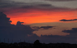 Sunset Embraces Titusville, Florida Stock Photo