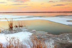 Sunset at Emiquon Stock Photo