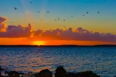 Sunset en Cienfuegos, Cuba Stock Image
