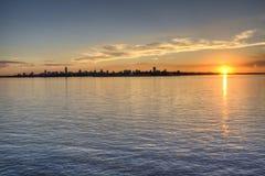 Sunset in Encarnacion Stock Image
