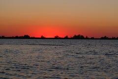 Sunset enchanting spectacle stock photo