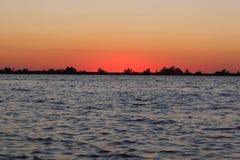 Sunset enchanting spectacle royalty free stock image