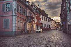 Sunset in Endingen, German Stock Photo