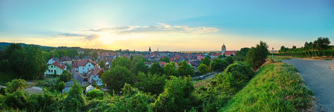 Sunset in Endingen,  German Royalty Free Stock Photography