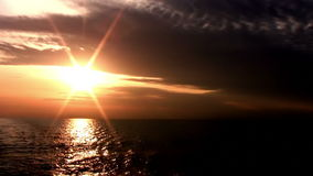 Sunset in the endless sea stock footage