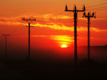 Sunset and energy Royalty Free Stock Photos