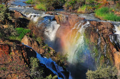 Sunset at the Epupa waterfall, Namibia Royalty Free Stock Image