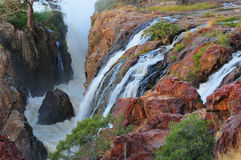 Sunset at the Epupa waterfall, Namibia Stock Image