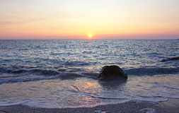 Sunset at Erimitis beach Paxos Greece Royalty Free Stock Image