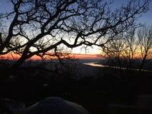 Sunset. In Esztergom Royalty Free Stock Image