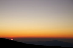 Sunset on the Etna Royalty Free Stock Photo