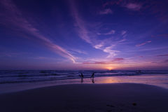 Sunset evening on the beach. Koh Chang, Thailand Stock Photography