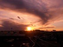 Sunset. Evening sunset and cloudy Royalty Free Stock Photos
