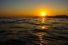 Sunset, Evening, Landscape, Dusk, Landscape, Crimea, the black sea, the sea. Sunset over the black sea Royalty Free Stock Images