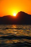 Sunset, Evening, Landscape, Dusk, Landscape, Crimea, the black sea, the sea. Sunset over the black sea Royalty Free Stock Image