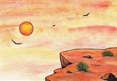 Sunset Evening (Zen Pictures, 2011) royalty free illustration