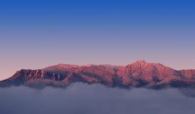 Sunset on extreme mountain Royalty Free Stock Photography
