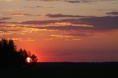 Sunset. FAI Sailplane Grand Prix 2016 - Russia, Usman Stock Photography