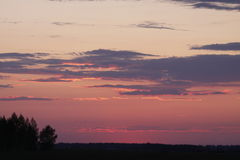Sunset. FAI Sailplane Grand Prix 2016 - Russia, Usman Stock Images
