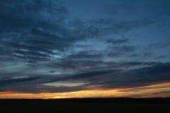 Sunset. Fall sunset on the ground Stock Photos
