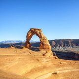 Sunset at famous Delicate Arch Royalty Free Stock Photo