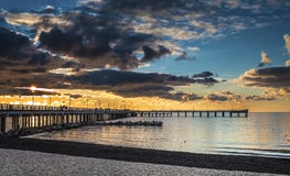 Sunset at the famous marine pier Stock Photography
