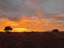 Sunset on the Farm Stock Photo