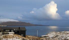 Sunset in Faroe island Stock Photography