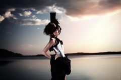 Sunset fashion Royalty Free Stock Images