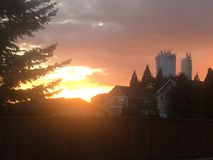 Sunset in Felida stock photo