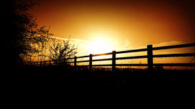 Sunset fence Royalty Free Stock Photography